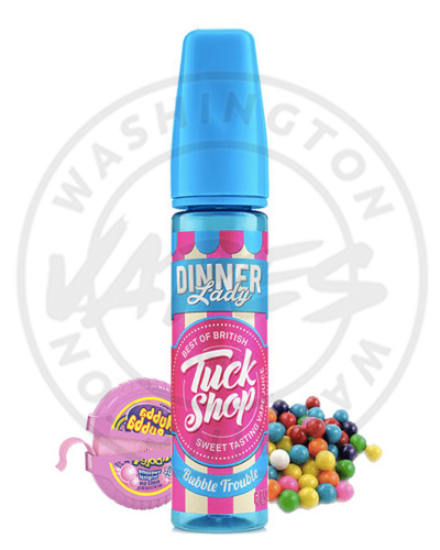 made in uk - dinner lady  bubble trouble 60ml 3mg