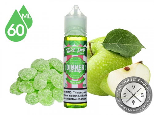 made in uk _ dinner lady apple sour 60ml 3mg